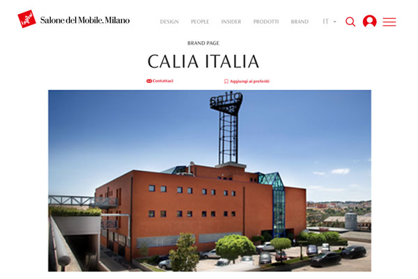 Calia Italia al Salone Sobile Milano