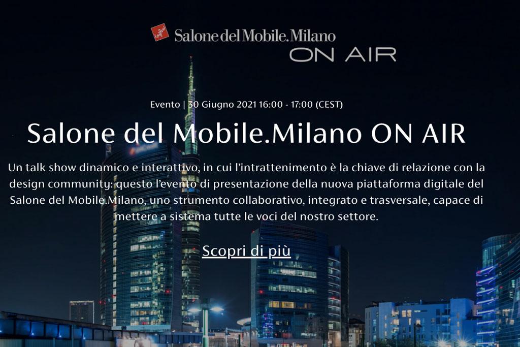 evento Salone Mobile Milano on air