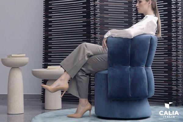 Caliaitalia - Calia Italia launches Madame G, the new armchair also chosen by Flavia Pennetta