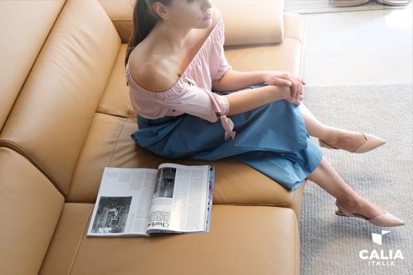 Estate e divano in pelle